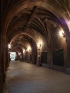 Cloistered corridor