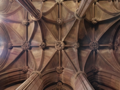 Old Entrance Hall: Vaulted ceiling