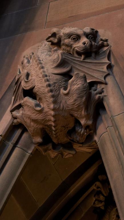 Main Staircase: a dragon