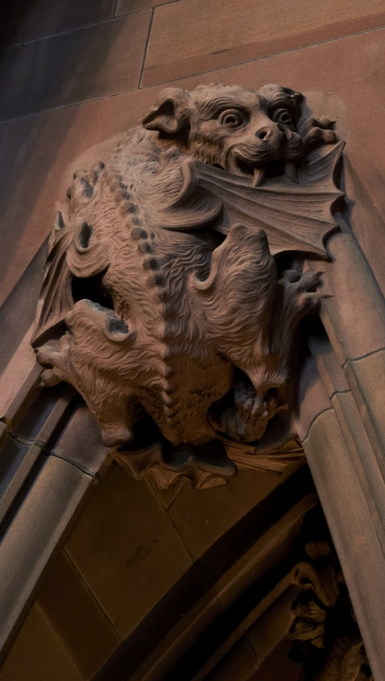 Main Staircase: a dragon